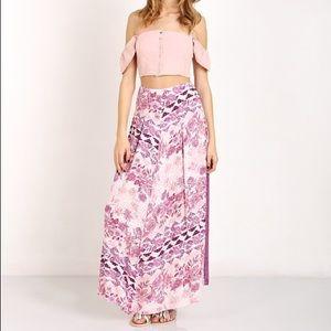 REVOLVE Some Days Lovin Sudden Sky Maxi Skirt Sz M